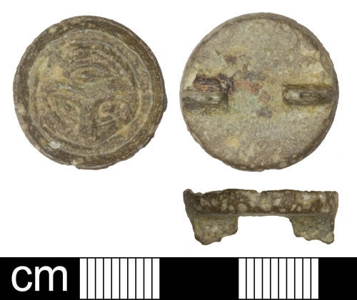 SOM-A3C7D6: Early-medieval button brooch