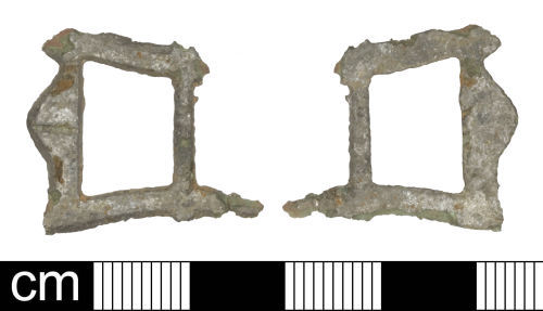 SOM-A80BB6: Post-medieval double-looped buckle