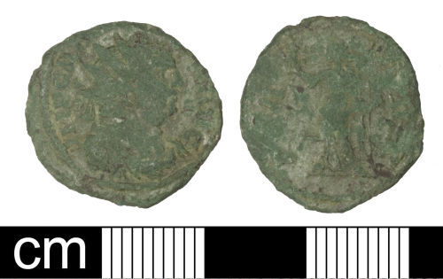 SOM-B24767: Roman coin: Radiate of Carausius