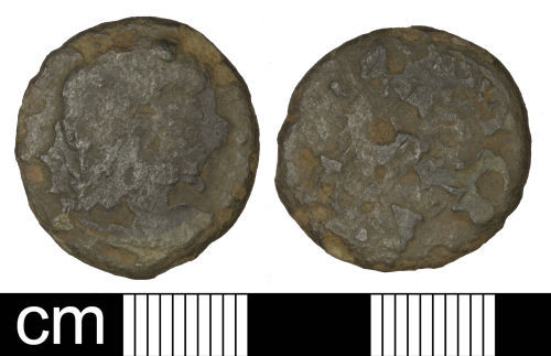 SOM-B6D551: Roman coin: Nummus of Magnentius or Decentius