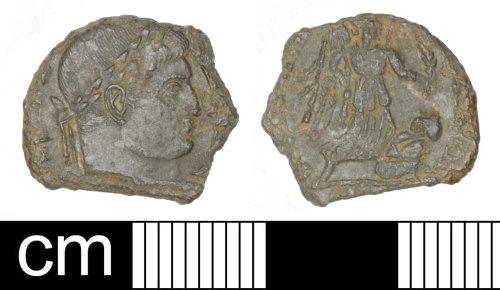 SOM-B815BB: Roman coin: Nummus of Constantine I (probably)