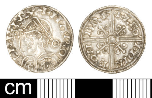 SOM-C1F7E4: Early-medieval coin: Penny of Harold I