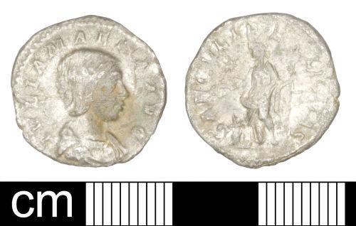 SOM-D0A907: Roman coin: Denarius of Julia Maesa