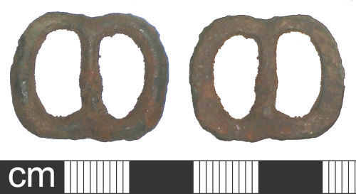 A resized image of Medieval or post-medieval buckle frame