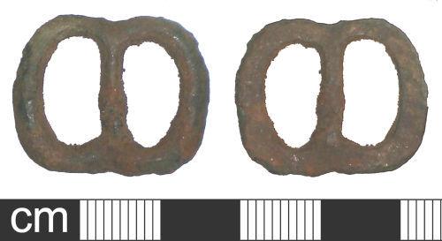 SOM-D70CF2: Medieval or post-medieval buckle frame