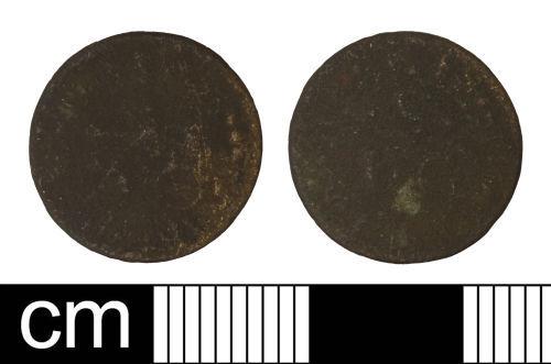 SOM-D96DC2: Post-medieval trade token farthing issued by John Sprake of Taunton