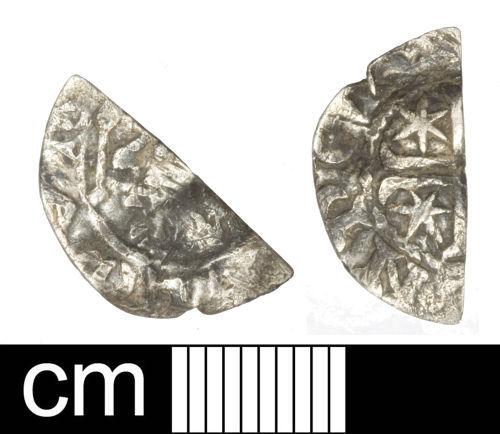 SOM-DA1725: Medieval coin: Scottish cut halfpenny of William I