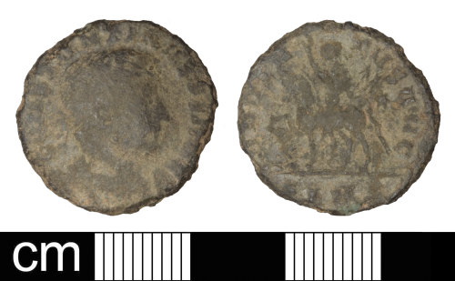 SOM-DAC857: Roman coin: Nummus of Constantine I