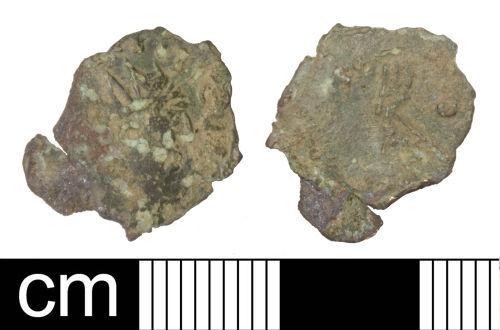 SOM-E52122: Roman coin: Irregular (barbarous) radiate copying Tetricus I or II