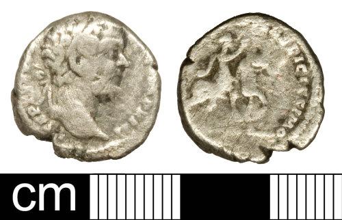 SOM-E6FD0A: Roman coin: Denarius of Septimius Severus