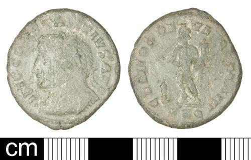 SOM-E74F38: Roman coin: Nummus of Constantius I