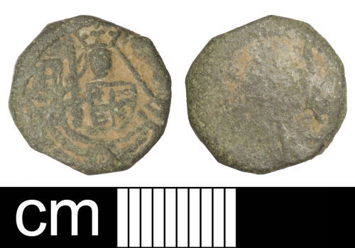 SOM-E96F91: Medieval coin weight (rose noble)