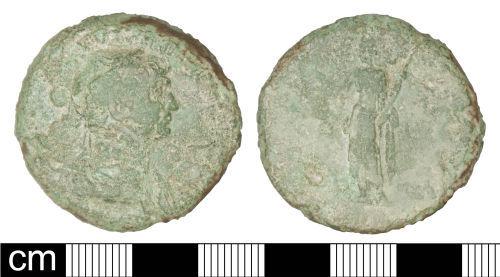 SOM-EFCDF6: Roman coin: Sestertius of Trajan