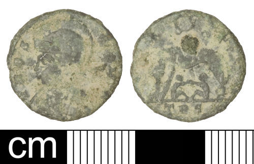 SOM-F462C0: Roman coin: Nummus of the House of Constantine