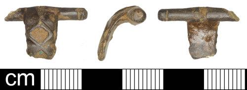 SOM-F9D5FA: Roman T-shaped brooch