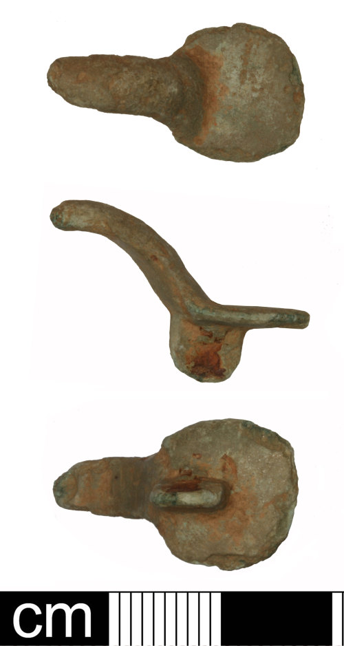 HAMP-38F4A4: Early-medieval equal-armed (ansate) brooch