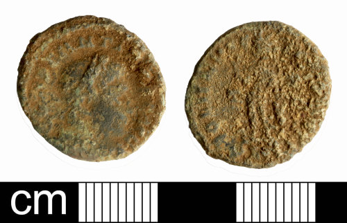SOM-5713E5: Roman coin: nummus of Constantine I