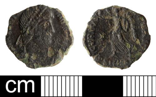 SOM-D17A1C: Roman coin: nummus of Valens