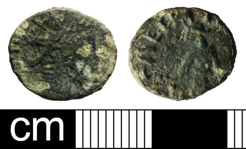 SOM-E01873: Roman coin: barbarous radiate of an unclear ruler
