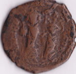 A resized image of Heraclius and Heraclius Constantine follis Constantinople obv