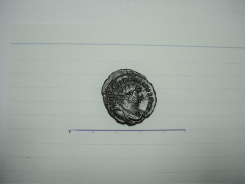 FASAM-1EA1AF: Roman coin: radiate of Carausius ADVENTVS AVG MCXXI