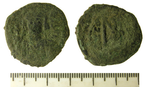 FASAM-C316BB: Byzantine Coin: Follis, probably of Maurice Tiberius