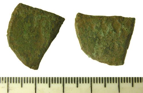 FASAM-AA3FD5: Byzantine coin: cut quarter follis, probably of Phocas