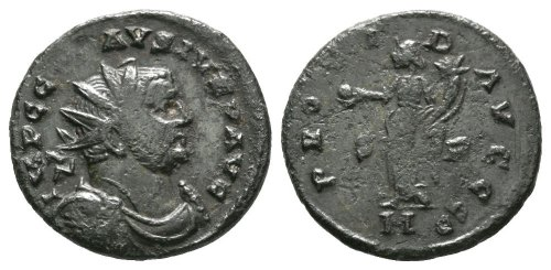 FASAM-3A4BFB: Roman Coin: radiate of Carausius S P MC PROVID AVGGG