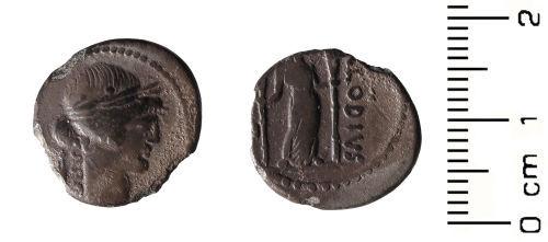 HESH-92C046: Roman Coin: Denarius of P Clodius