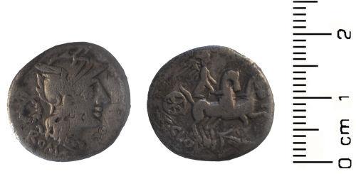 HESH-05EEE7: Roman Coin; Republican Denari