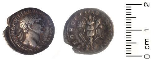 HESH-CAD613: Roman Coin: Roman Denarius of the emperor Trajan
