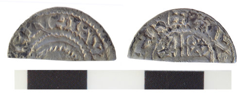 WILT-907A6D: A medieval Scottish silver cut halfpenny of William I