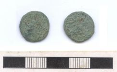 A resized image of Roman coin: copper alloy