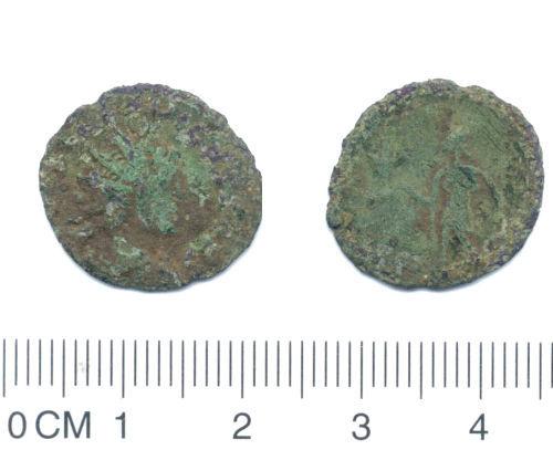 NARC-12E6C8: NARC-12E6C8 Roman coin: copper alloy radiate