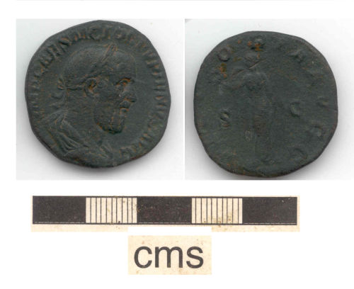 NARC-6C6FE8: early Roman coin: copper alloy As
