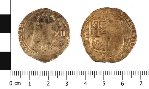 WMID-10B8DC: Post Medieval coin: shilling of Charles I