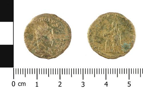 WMID-AC156E: Roman coin: radiate of Volusian