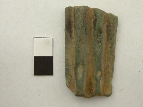 A resized image of Mediaeval or Post Mediaeval cooking pot (Posnet) leg.