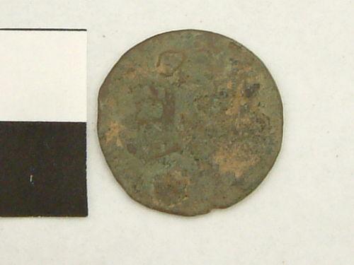 YORYM-54C9D7: Post Mediaeval coin (obverse).