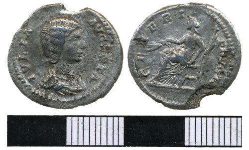 WMAS-6B4756: Roman Coin: Denarius of Julia Domna (obverse and reverse view).