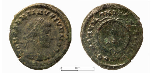 A resized image of Roman copper alloy coin