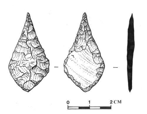 SOMDOR287: Neolithic Leaf Arrowhead
