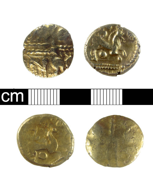 ESS-846A33: Iron Age Coin Hoard: Gold Staters