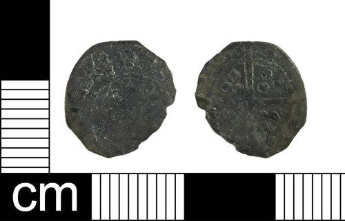 ESS-050AF1: Medieval coin: silver farthing of Edward IV