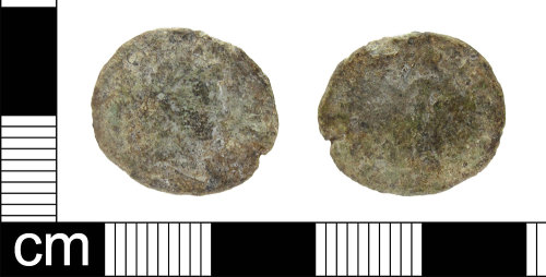 ESS-0F59F9: Roman coin: nummus of House of Constantine