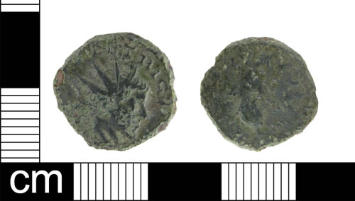 ESS-111889: Roman coin: Radiate of Tetricus I (probably)