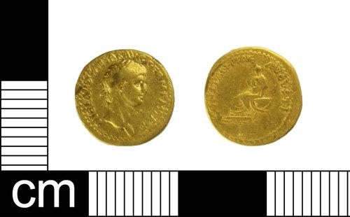 ESS-2C7051: Roman coin: gold aureus of Claudius