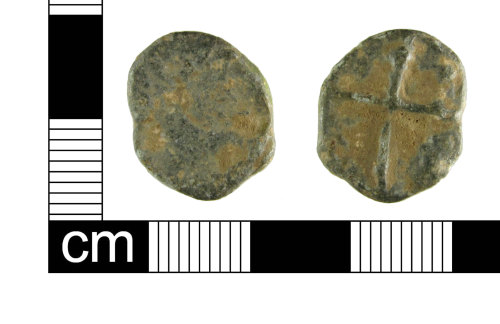 ESS-7F18A1: Post medieval lead token