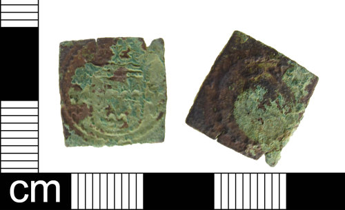 ESS-86FB72: Copper-alloy medieval to post medieval coin weight for a French ecu