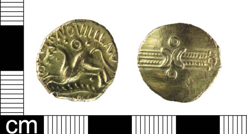 A resized image of Iron Age Coin: Gold stater of Dubnovellaunos